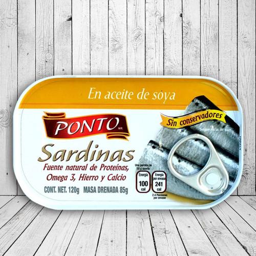 Sardinas en aceite de soya