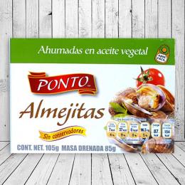 Almejitas ahumadas en aceite vegetal